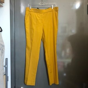 Jules & Leopold goldenrod yellow stretch pants M